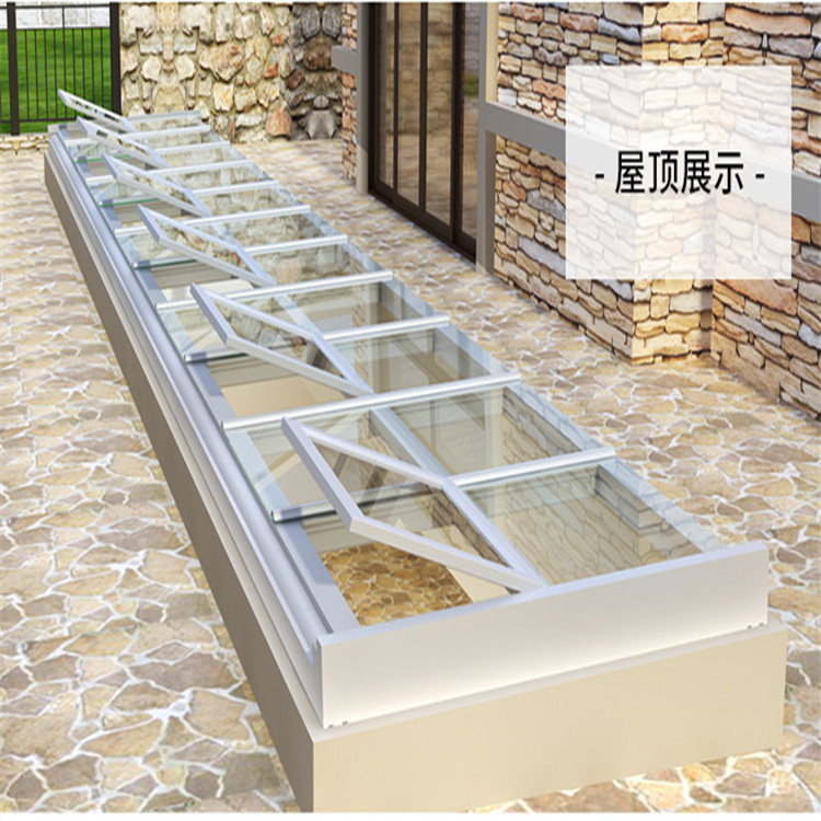 China Manufacturer Natural Light Sun Bullet Proof Skylight Automatic Flat Roof Sky View Dome Glass Roof Tile Roof Window Skyligh