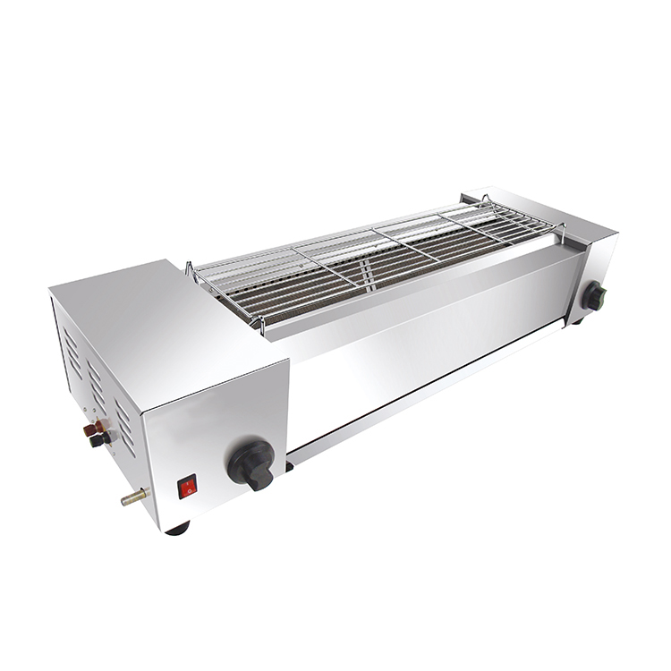 Table Top Stainless Steel Gas Abthracitic BBQ Grill With Fan