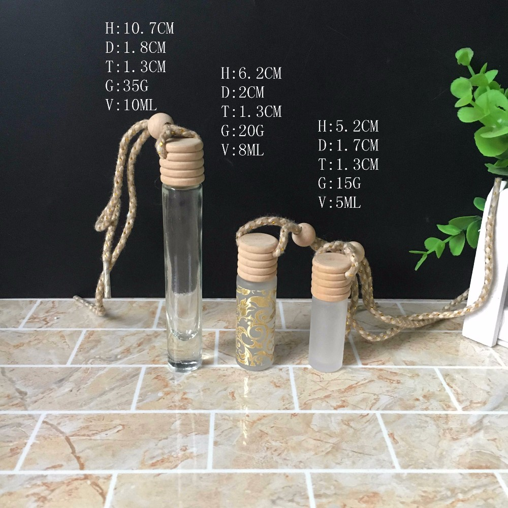 5ml 8ml 10ml Fancy Mini Glass Perfume Crystal Bottles with Caps and Hangings