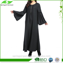 Wholesale Thobe Collar Long Sleeve Dress Lace Muslim Abaya