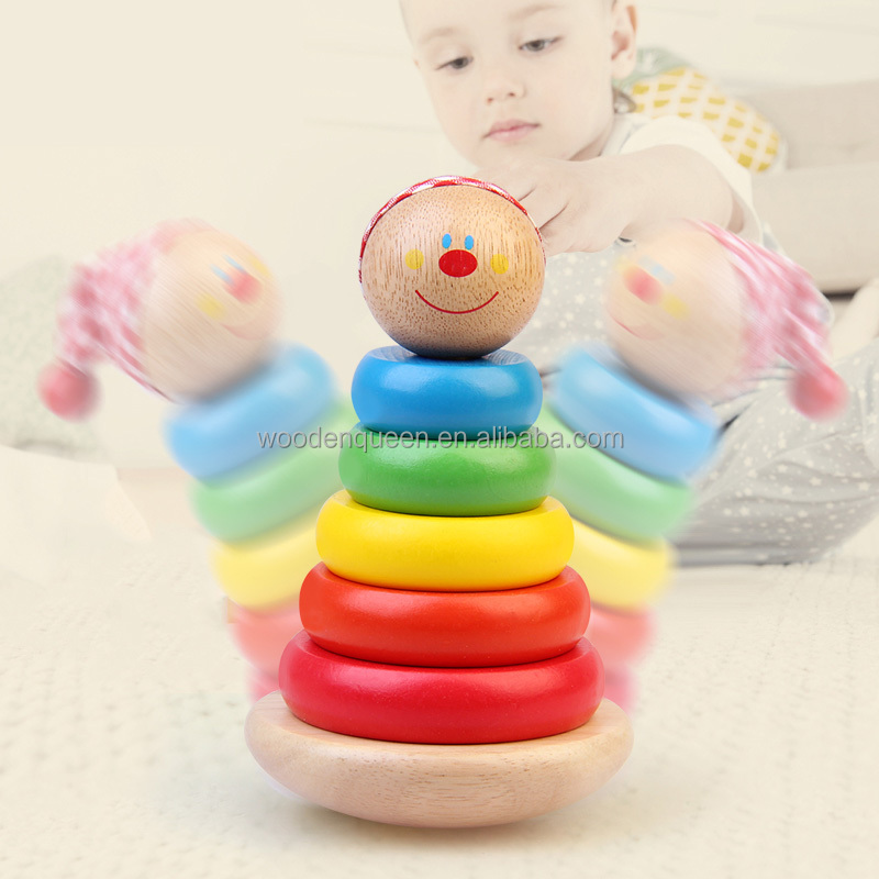 2017 Hot New Products Toys CDN-2248 For Kids Rainbow Staker Tower Ring Blocks Building Kid Toy CDN-2248