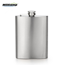Stainless steel camping wine pot 16oz hip flask