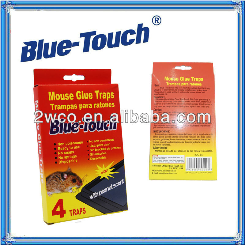 Efficient Powerful Glue traps (4 Traps) Red & Blue