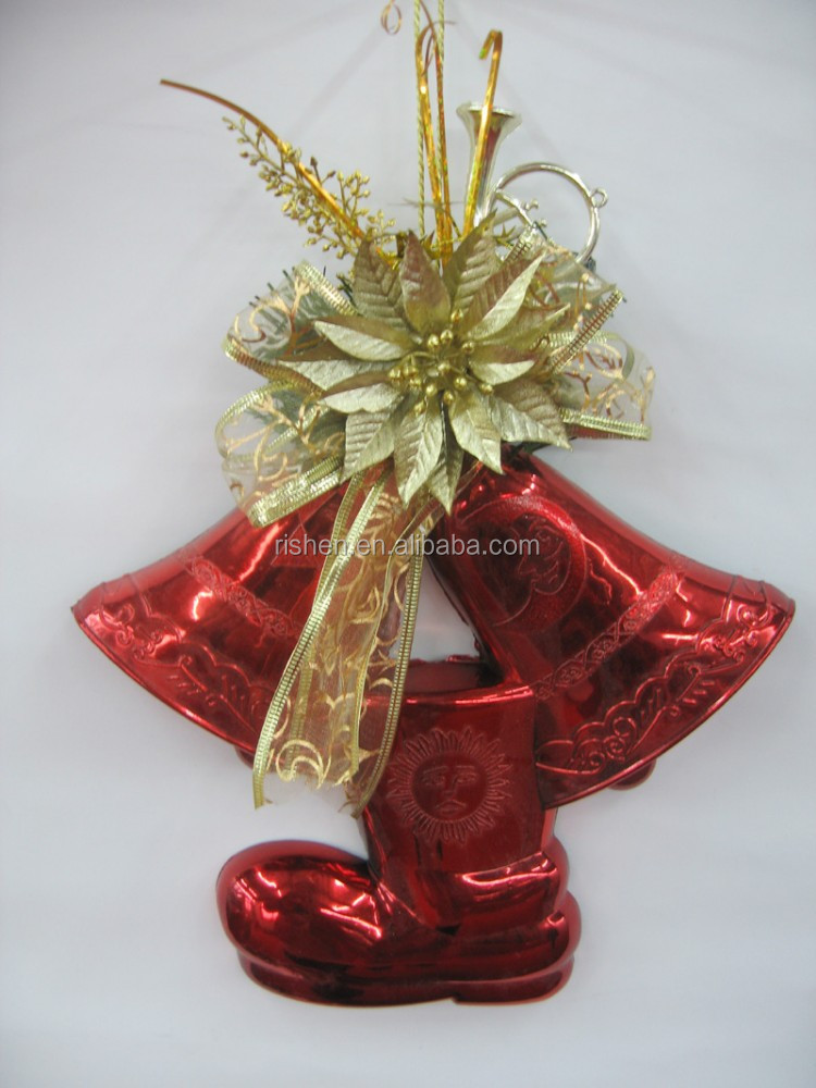 wholesale christmas song jingle bells red christmas hanging decoration xmas bell
