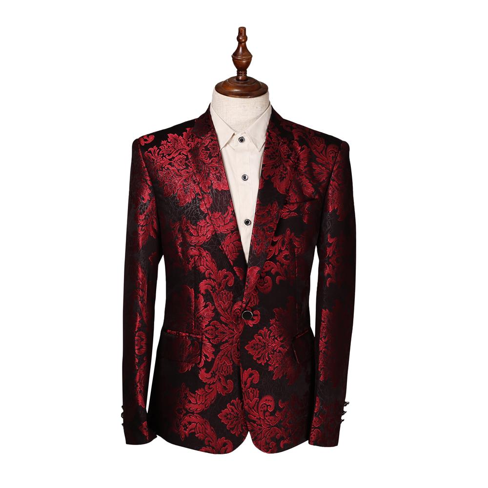 Compra Hombres de la chaqueta de color rojo online al por