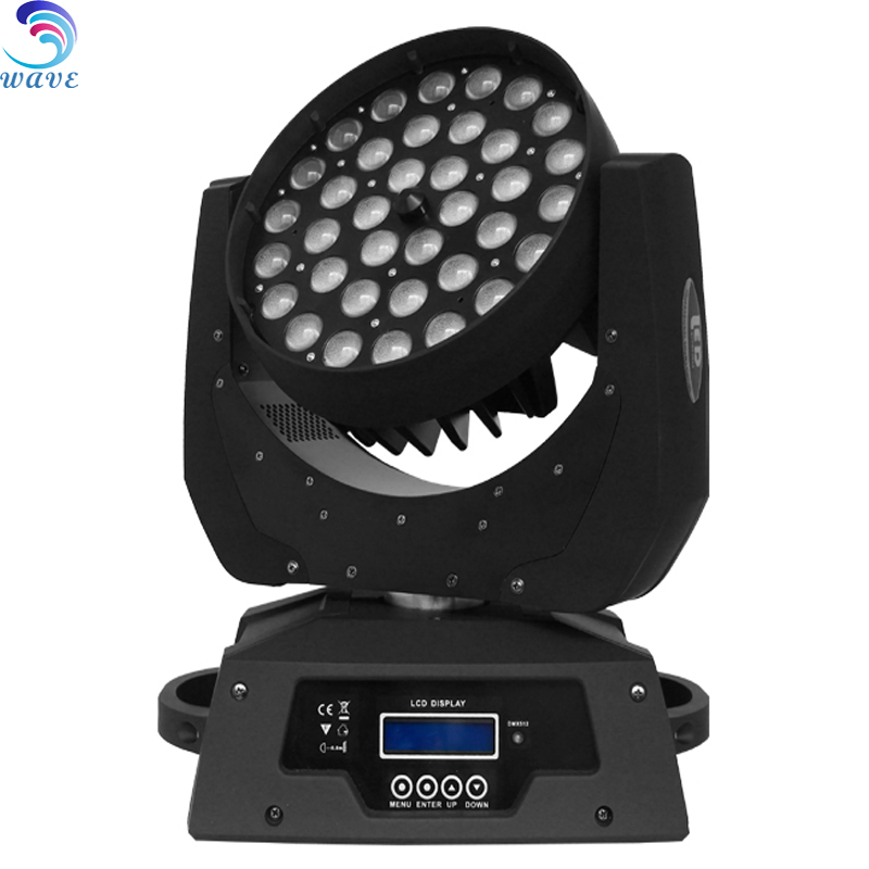 36 pcs rgbw 10w leds zoom aura wash zoom moving head professional led wash 36x10