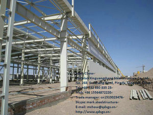 prefabricated iron construction structure building for workshop
