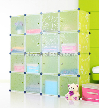 16 cubes plastic boekenkast goedkope diy plastic opvouwbare kast boekenkast