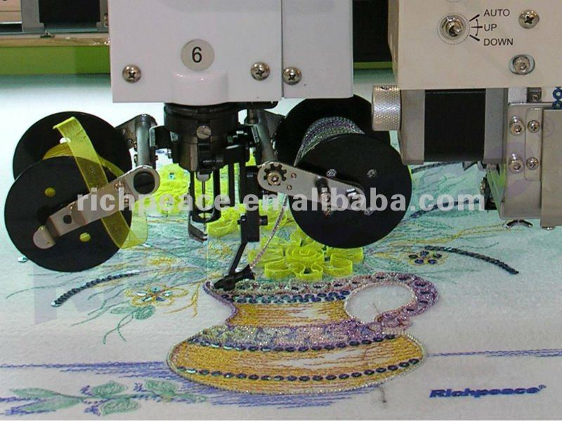 Multi-head High Speed Computerized Mixed Coiling Embroidery Machine