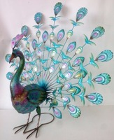 Metal garden Peacock bird outdoor ornament