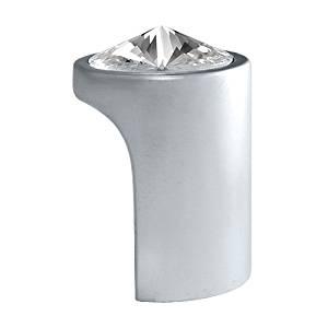 Swarovski Clear Crystal Pull Knob, 1.10 inch by 0.79 inch, Satin Chrome Finish, 722 SC