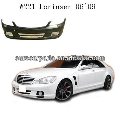 High quality FRP w221 lorinse style body kit front bumper fitting for s class w221 06~09