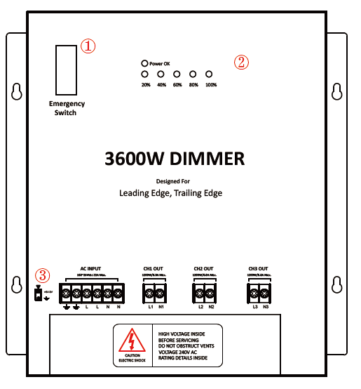Triac Led Dimmer 180-290v 4500w Dimmer Device For 0-10vdimmable ...