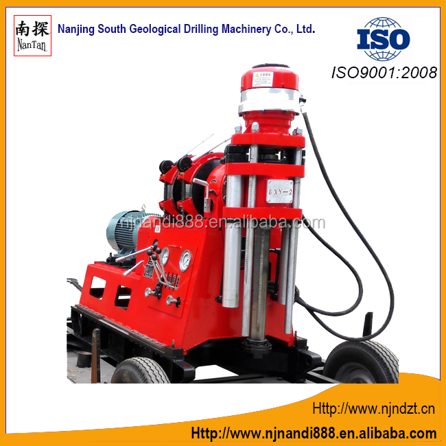 GXY-2 four wheel trailer water well drill rig machine(300-600m),geological exploration drilling