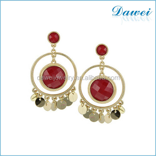 new design fashion alloy earring fringe resin earrings in london