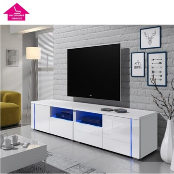 Modern Chipboard Wooden Simple Led Tv Stands Furniture With Rgb Light