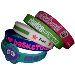 100% eco friendly cheap custom silicon wristband