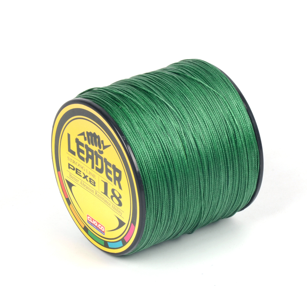 YUDELI Braided Fishing Line 300m 8 stand Japan Multifilamen Fishing Line 10LB 20LB 30LB 40LB 50LB 60LB 70LB Green color, White