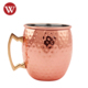 Factory manufacturer 16 OZ hammered Stainless Steel copper moscow mule mug