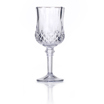 Transparent footed red glass wine bottles wholesale for Red glass wine bottles suppliers