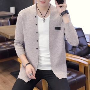 Men's Knitted Turtleneck Cardigan