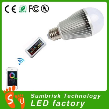 2015 Fashion 9w 2.4g T10 Led Light Bulb Dimmable
