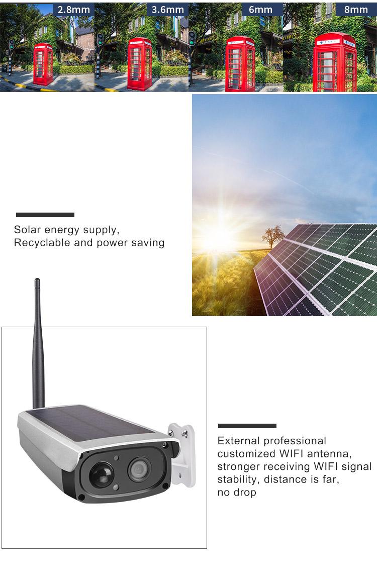 1080 アルミ合金リモートビデオ音声インターホン CCTV 製品ソーラーワイヤレス IP カメラとマイク