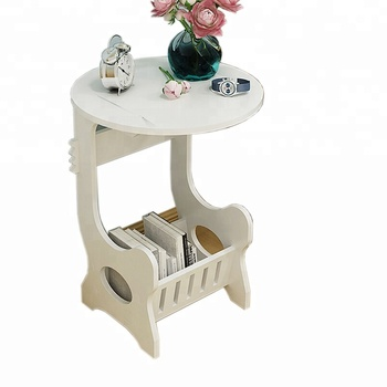 China Wholesale Moveable Wood Bedside Table Storage White Art Desk