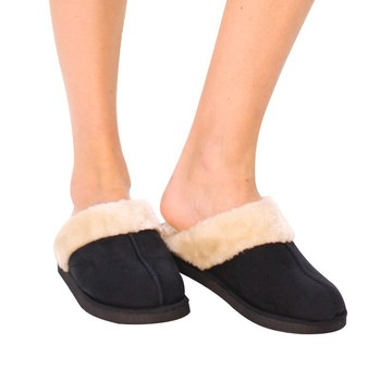 787ce4d392f New fashion fluffy winter indoor latest ladies leather slippers shoes and  sandals
