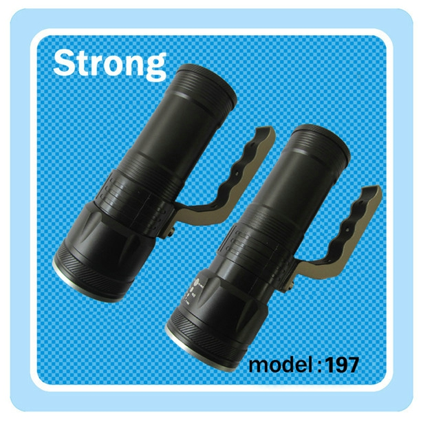 TOSHIBA 3W*1 powerful LED handle flashlight 200lm with low price