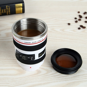 Novelty 400ML Camera Lens Shape Cup Mug Caniam EF 24-105mm F4 Filter Cup for Coffee Milk Water as Gift