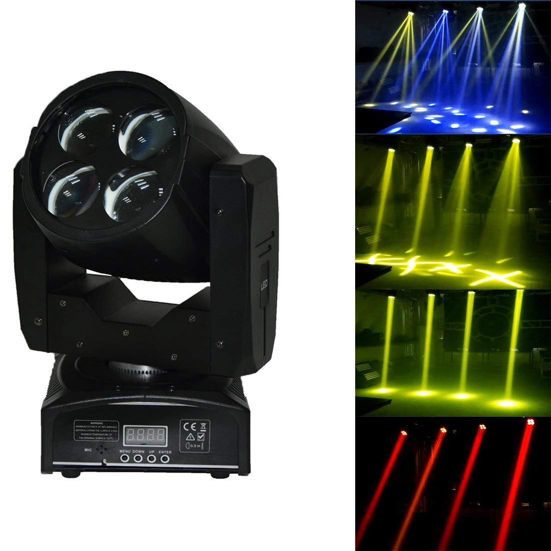 MOKA SFX LED 4pcs Moving Head Beam Lights 4x10W RGBW DMX DJ Lights for Club KTV Stage Party Decorations