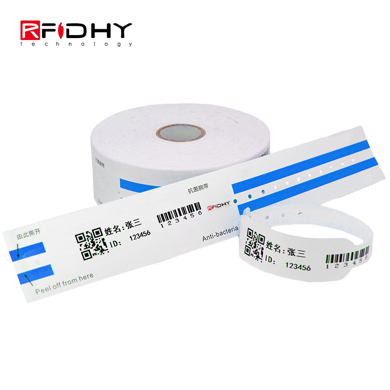 Entre em Rolls White Printable RFID Thermal Wristband