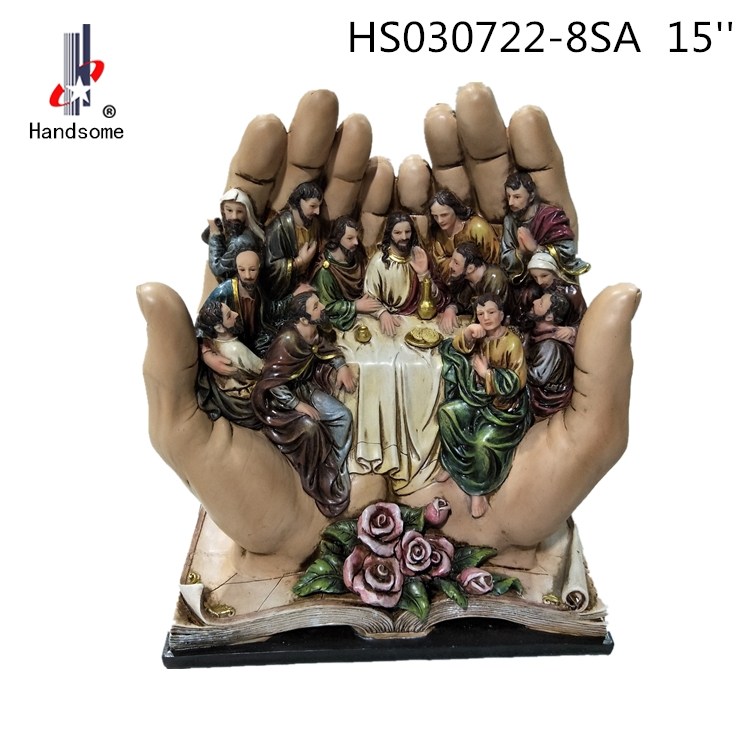 14 Inch Resin Holy Dinner Home Decoration Statue Last Supper Catholic Religious Items