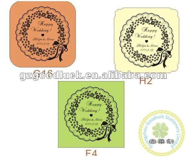 Various fonts wedding self inking photo rubber stamps
