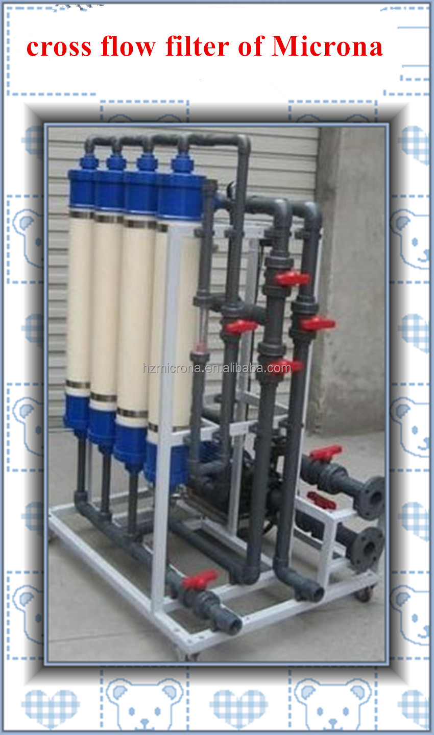 Cross Flow Membrane Filtration / Hollow fiber Membrane Crossflow Filter