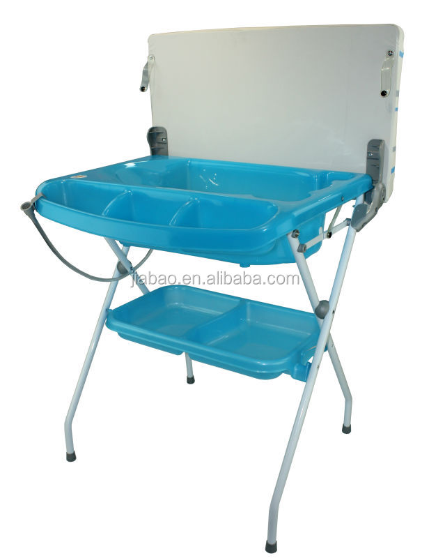 Folding Baby Bath Tub Station Changing Table Bath With En12221 Baby ...