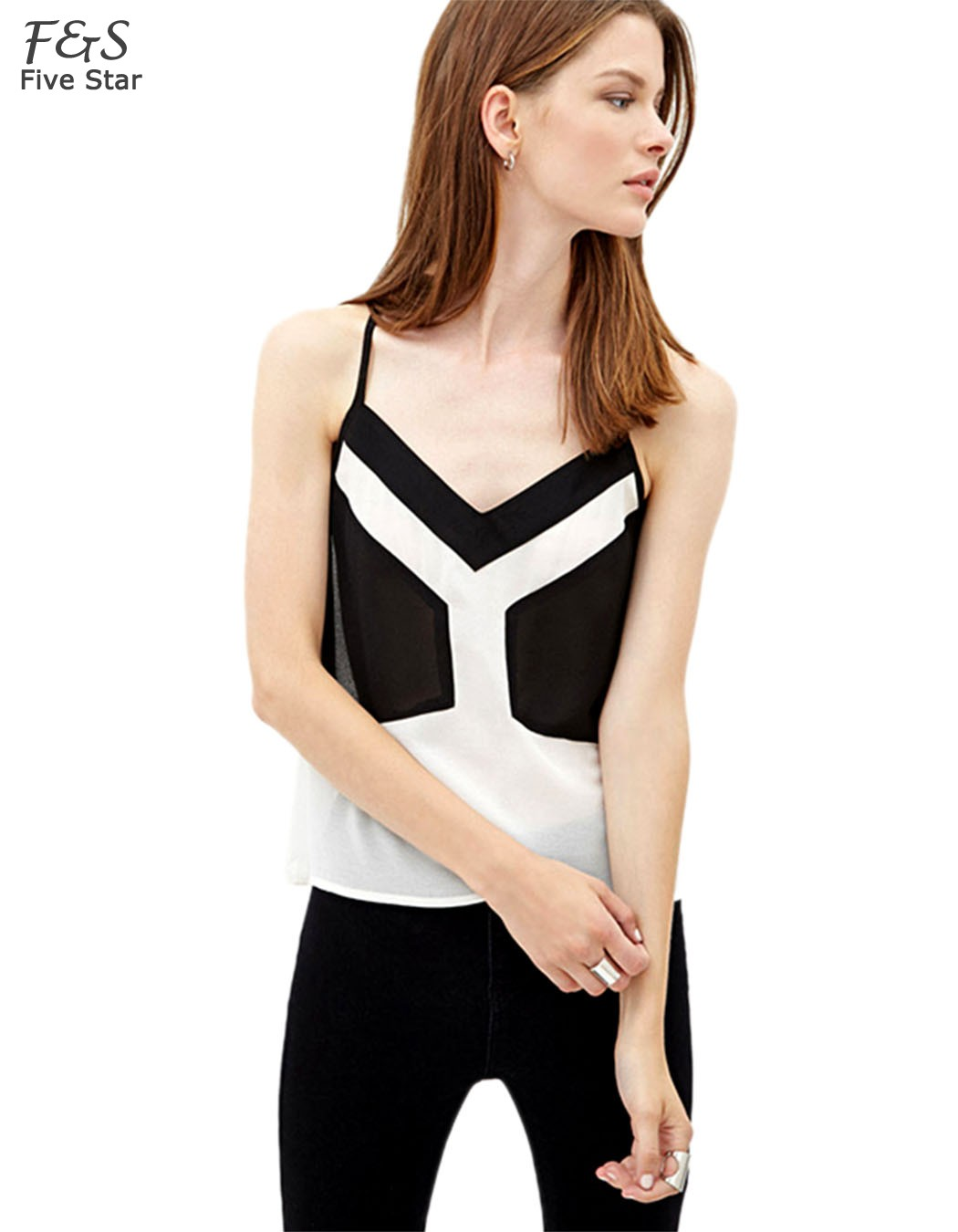 b1fd739d1ba44 Get Quotations · Free Shipping 2015 Summer Women Casual Sexy Backless Strap Tank  Tops Chiffon Tops Ladies  Vest