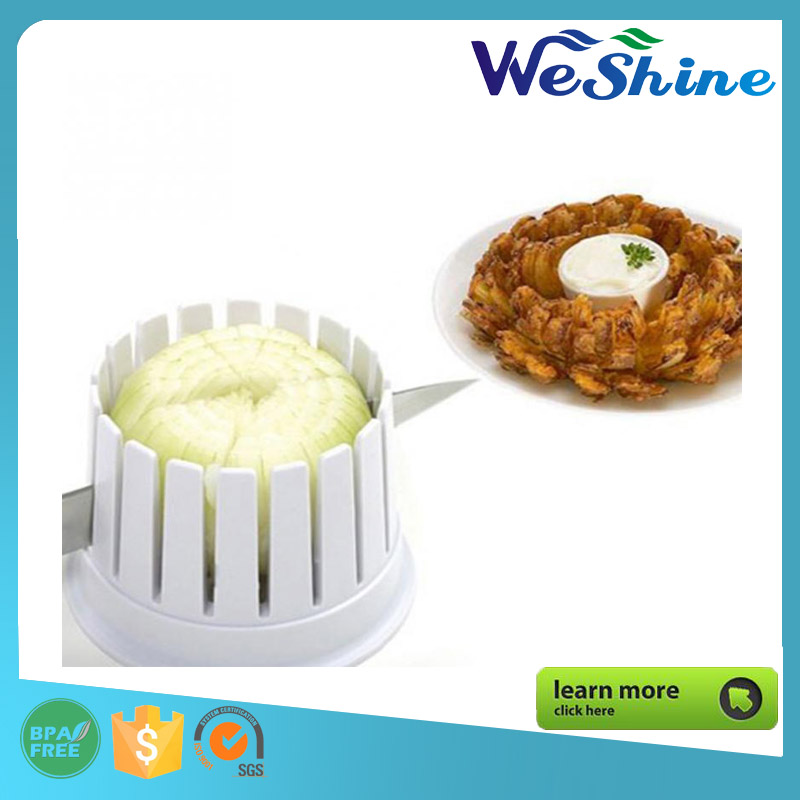 Creative Product Made in China Onion Blossom Maker Onion Flowering Chopper Slicer Cutter White with Core Remover Kitchen Tool