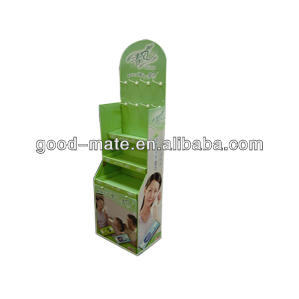 Cardboard Retail Store Display Racks for Tissues Napkin