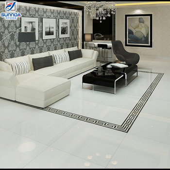 New Model 24x24 Solid Rialto White Color Porcelain Kajaria Vitrified Double Charge Flooring Tiles Building Material
