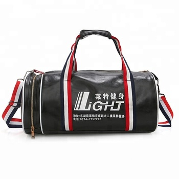 8ffb7373b94915 promotional Unisex luggage travel PU leather black duffel bags gym custom  waterproof sports bag with logo
