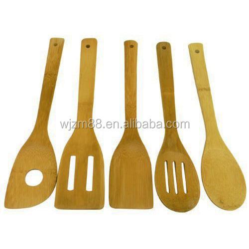 6pcs Bamboo Kitchen Utensils Set,Kitchen Accessories