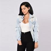 工場販売ジーンズジャケット女性の快適な格安ジーンズジャケット女性