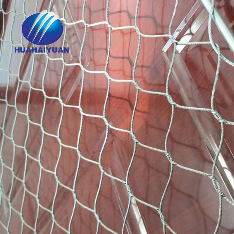 Ferruled cable mesh fence price steel wire rope mesh fencing zoo mesh netting