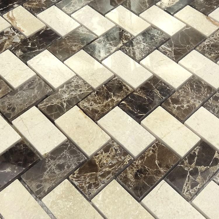 Mooie ontwerp woondecoratie visgraat marmer moza ek tegel buy product on - Mozaiek ontwerp ...