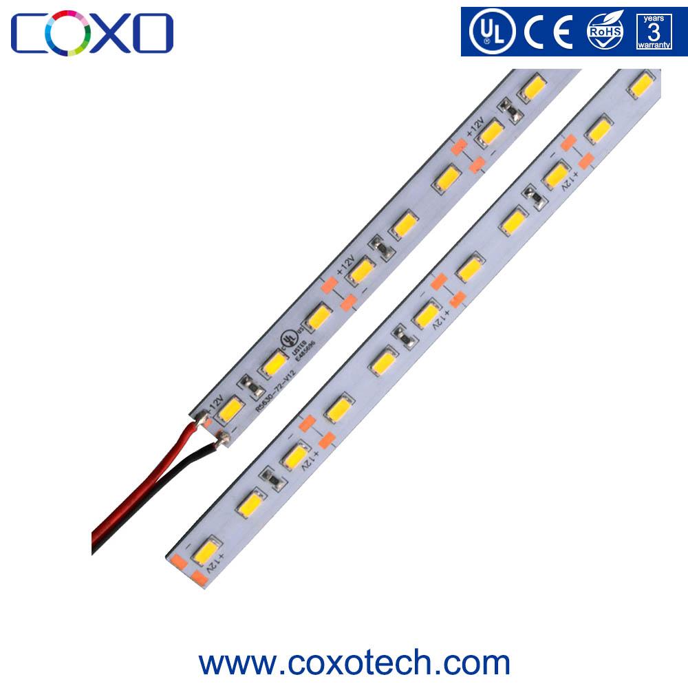 UL Listelenen Yüksek Cri 12 v 12mm PCB SMD 2835 3014 5630 Sert sabit LED şerit bar ışığı