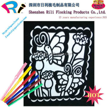 China Black Velvet Fuzzy Art Posters To Color With Markers - Buy Art ...