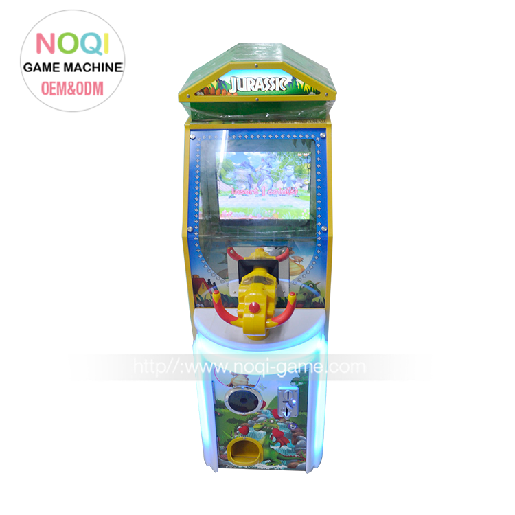 NQM-007 guangdong coin op shooting dinosaur electronic video game for sale