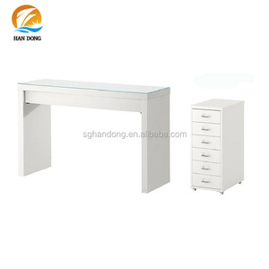 Modern stylish white foldable vanity dresser/ dressing table with drawers